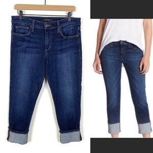 Joe's Jeans Maven Wide Cuffed Crop Dark Jean 31